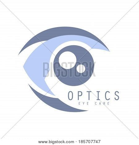 Optics eye care logo symbol. Vector Illustration for optics clinic, company, ophthalmology cabinet