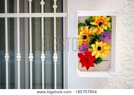 Floral Decoration Next To Southern Door