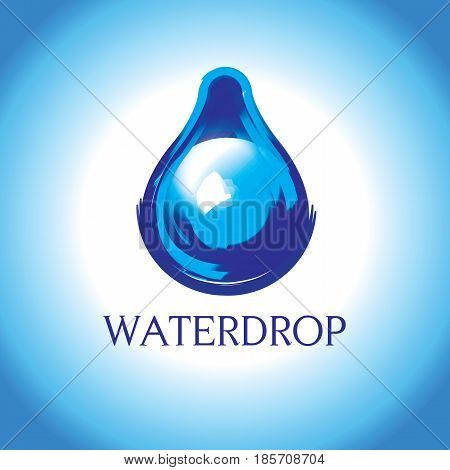 Water drop vector pure and trendy design