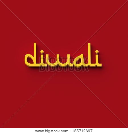 3D RENDERING WORDS 'diwali' (DIWALI OR DEEPAVALI IS THE HINDU FESTIVAL OF LIGHTS)