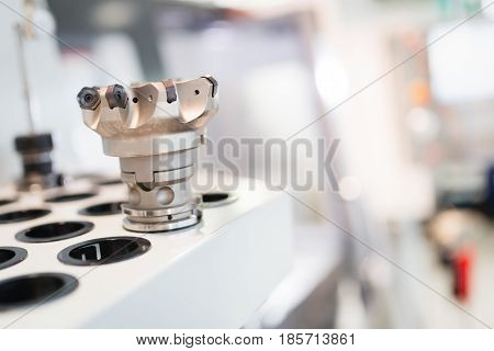 industrial metalworking cutting process by milling cutter used in metal industries