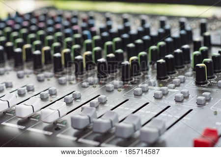 Professional Studio Equipment For Sound Mixing. Sound Equalizer.