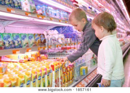 Children In The Supermarket