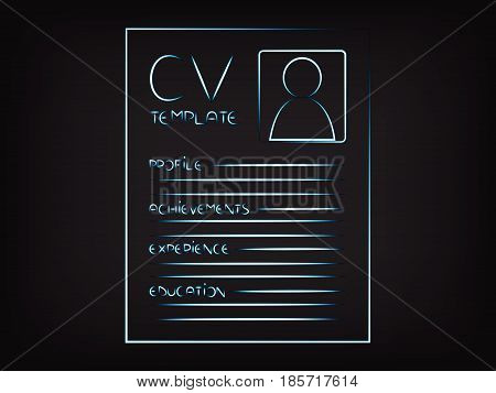 Cv Illustration Highlighting The Sections That Should Be Included In A Reusme