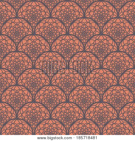 Abstract Seamless Pattern Like Lace. Vintage Ornament Pattern. Islamic, Arabic, Indian, Bohemian, Gy
