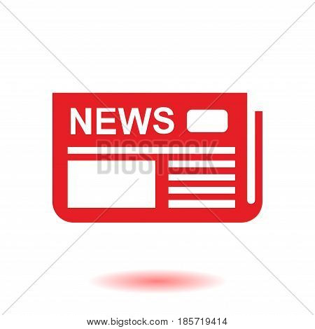 Flat design. Overview of news media, the first news page.