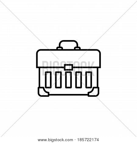 Tool box line icon, build repair elements, construction tool, a linear pattern on a white background, eps 10.