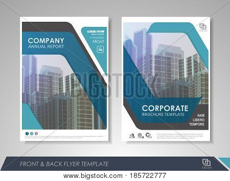 Blue annual report leaflet brochure flyer template design book and magazine cover layout design abstract business presentation template design. Easily editable vector format.