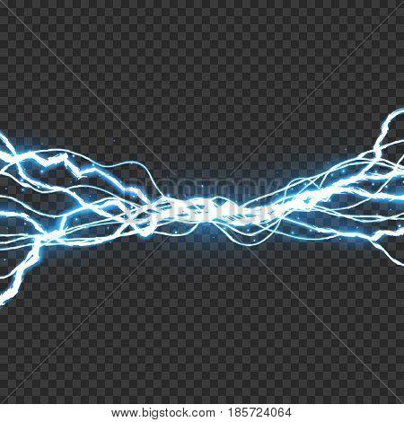 Electric lightning bolt, Energy effect illustration, EPS10