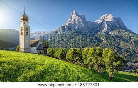 Seis Am Schlern, Dolomites, South Tyrol, Italy