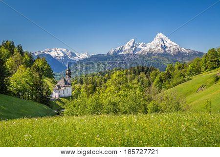 Church Of Maria Gern In Springtime, Berchtesgadener Land, Bavaria, Germany