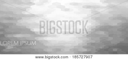 Gray Ripple Background. Abstract Scale Geometric Pattern Template. White Neutral Structure Vector Il
