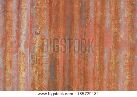 Rust Stripe On Galvanize Sheet Texture And Background