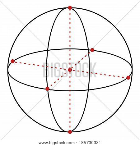 Vector Single Line Illustration - Sphere