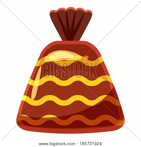 Chocolate candy icon. Cartoon illustration of chocolate candy vector icon for web