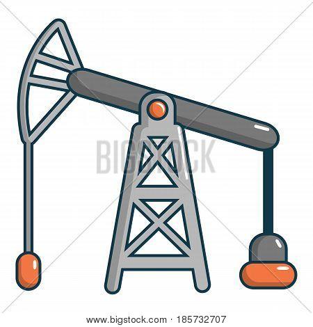 Oil pump icon. Cartoon illustration of oil pump vector icon for web