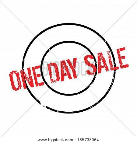 One Day Sale rubber stamp. Grunge design with dust scratches. Effects can be easily removed for a clean, crisp look. Color is easily changed.