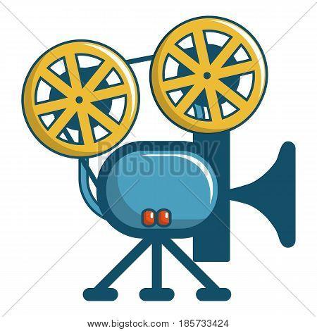 Retro cinema camera icon. Cartoon illustration of retro cinema camera vector icon for web