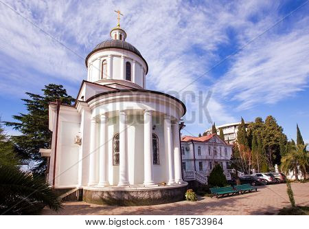 Baptismal Temple Iberian Mother of God in the territory Church of the Archangel Michael. Sochi, Russia
