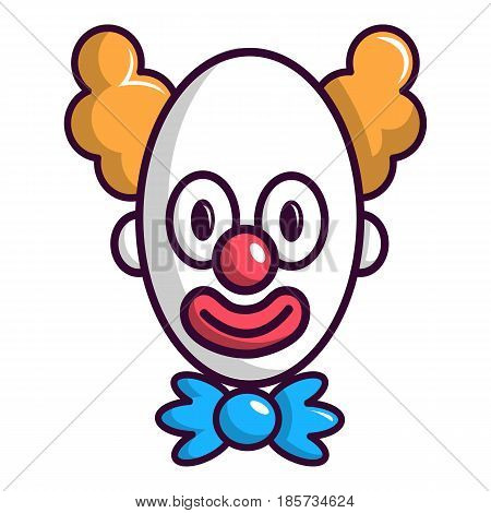 Clown with big eye icon. Cartoon illustration of clown with big eye vector icon for web