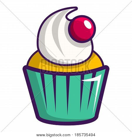 Cupcake icon. Cartoon illustration of cupcake vector icon for web