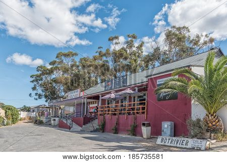 BOTRIVIER SOUTH AFRICA - MARCH 27 2017: A restaurant supermarket and liquor store in Botrivier a small town in the Western Cape Province
