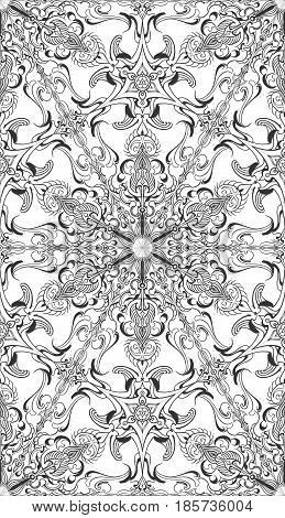 Line art rosette pattern in vector works, can apply to background images or any products that included. hexagon grid