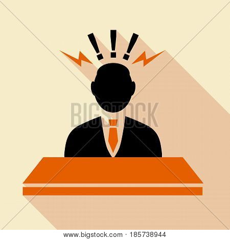 Consulting agent, Information stand icon. Flat illustration of consulting agent, Information stand vector icon for web