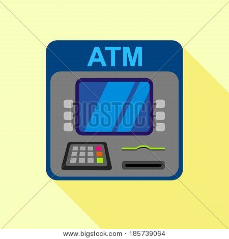 ATM machine icon. Flat illustration of ATM machine vector icon for web