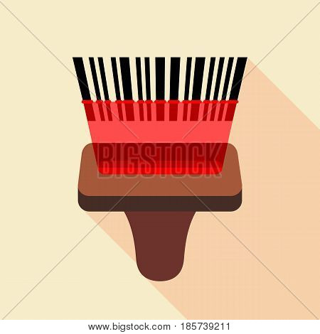 Barcode reader icon. Flat illustration of barcode reader vector icon for web