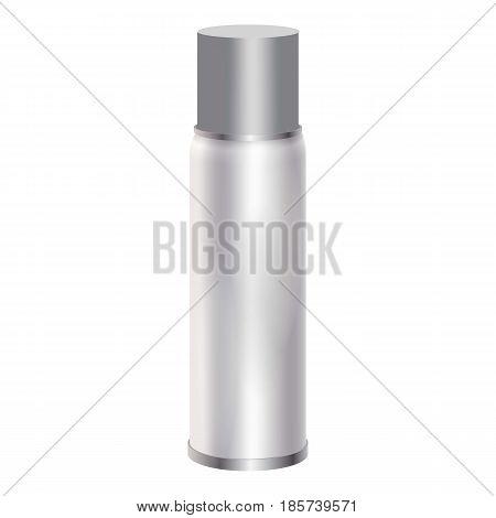 Blank spray can mockup. Realistic illustration of blank spray can vector mockup for web