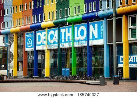 Amsterdam, Netherlands - April, 2017: Decathlon sport store in Amsterdam city
