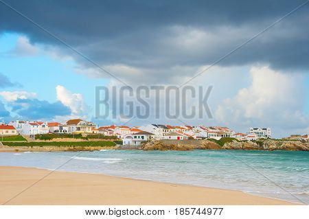 Charming Portugese Town At Seashore