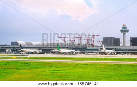 Changi International Airport Exterior, Singapore