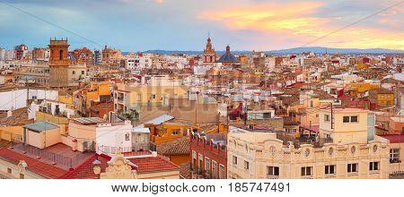 Panorama Of Valencia, Spain