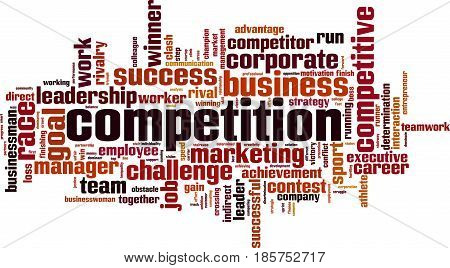 Competition word cloud concept. Vector illustration on white