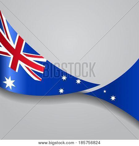 Australian flag wavy abstract background. Vector illustration.