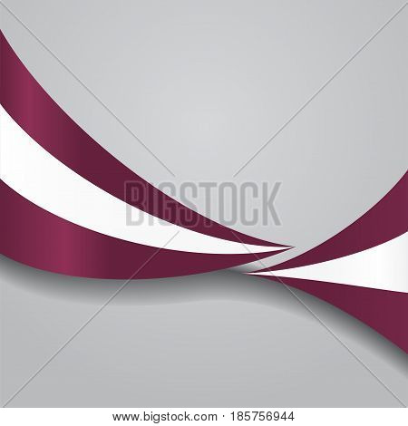 Latvian flag wavy abstract background. Vector illustration.