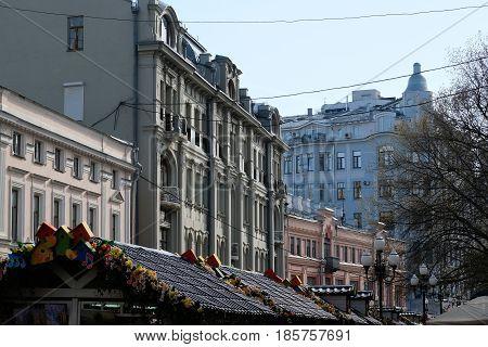 Moscow downtown, April 2017, weekend photo at Stariy Arbat