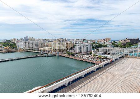 top view of San Juan and Atlantic coast Puerto Rico