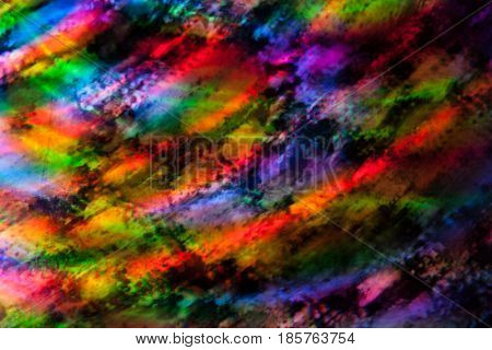 Abstract background colored lights and circles in a motion