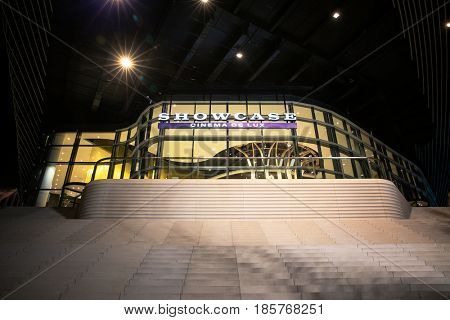 Southampton, UK - 17 Feb 2017: The new state of the art Showcase Cinema De Lux opens in the Southampton West Quay shopping and restaurant complex.