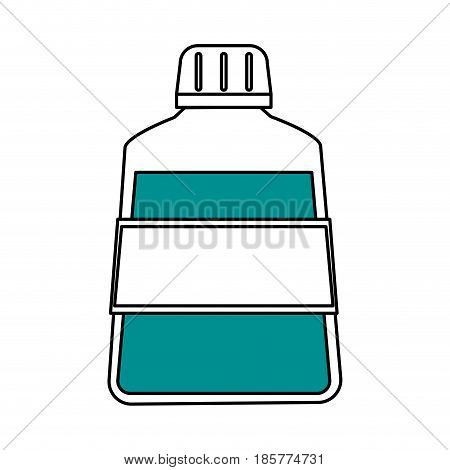 color silhouette cartoon mouthwash for dental care vector illustration