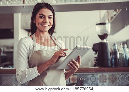 Girl Barista Cafe