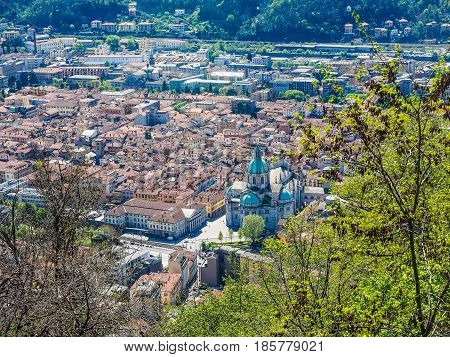 Aerial View Of Como, Italy (hdr)