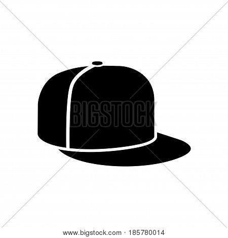 Rap cap icon baseball cap on white background. Vector illustration