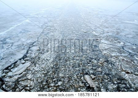 Channel Made By An Icebreaker