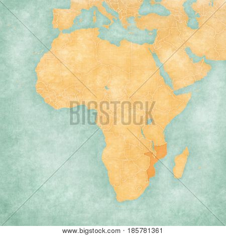 Map Of Africa - Mozambique