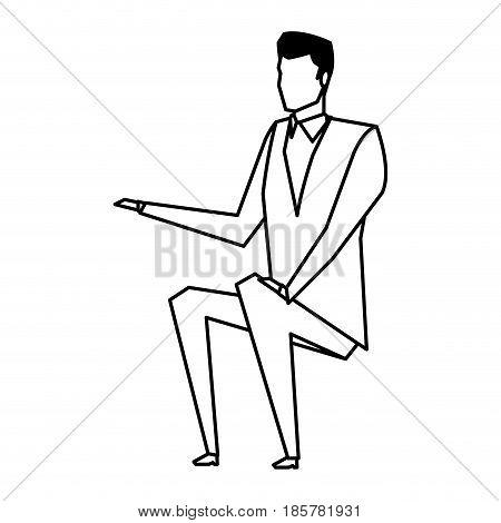 business man manager work dynamic vector illustration