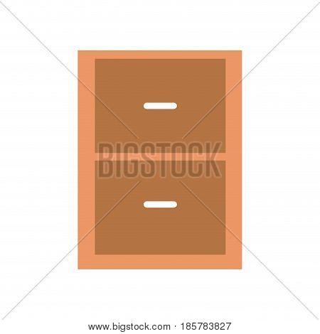 chest drawer shelf cabinet wood image vector illustration